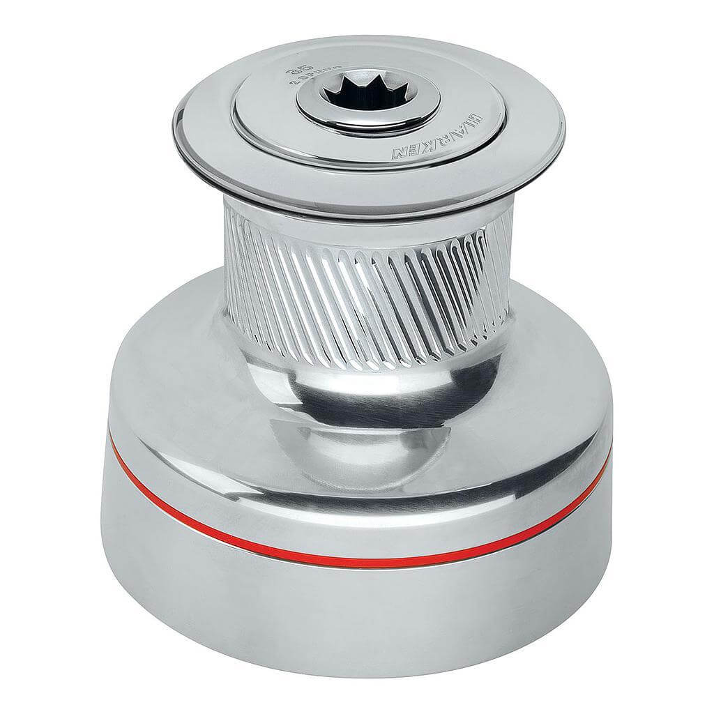 35 2-Speed Plain-Top Radial All-Chrome Winch